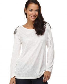 Tutto Tempo camiseta algodón pedrería