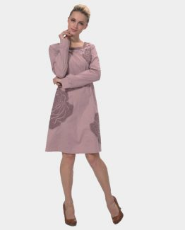 Vestido algodón bordado
