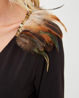 Vestido plumas - Tutto Tempo