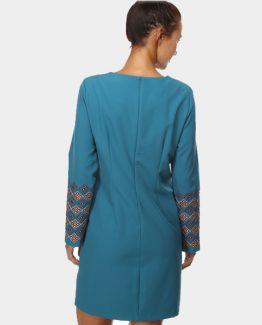 Vestido elástico bordado Tutto Tempo