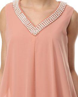 Vestido con perlas