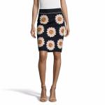 Falda flores bordada