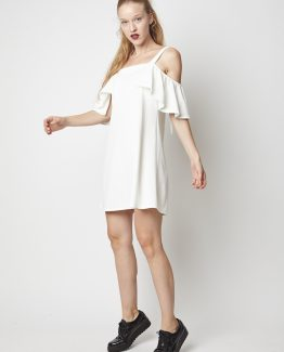 Vestido off-shoulder