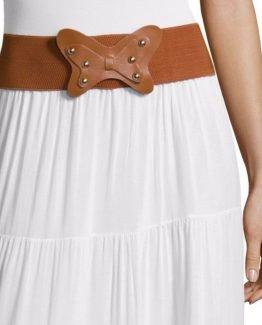 Falda larga con cinturón