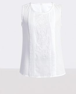 Blusa panel bordado