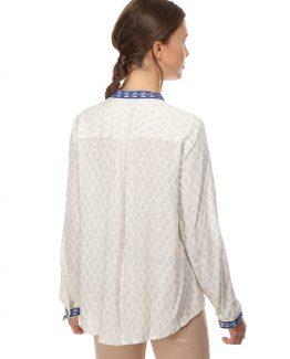 Blusa estampada bordada - Tutto Tempo