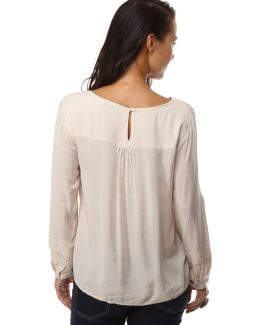 Blusa panel calado bordada- Tutto Tempo