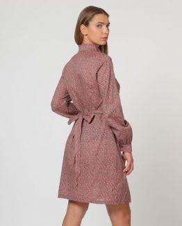 Vestido estampado con fajín - Tutto Tempo
