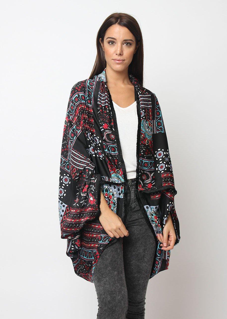 Kimono estampado flores - Tutto Tempo