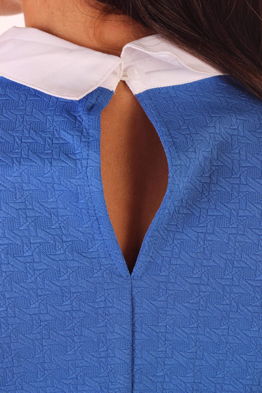 Blusa cuello contraste - Tutto Tempo