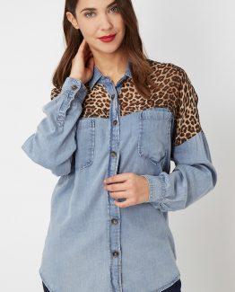 Camisa vaquera leopardo- Tutto Tempo