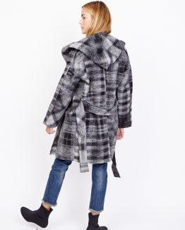 Abrigo cuadros con capucha - Tutto Tempo