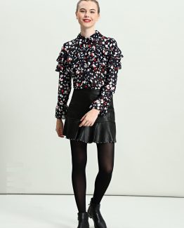 Blusa estampada bordada - Tutto Tempo