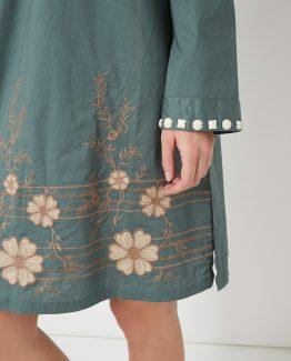 Vestido bordado con pedrería - Tutto Tempo