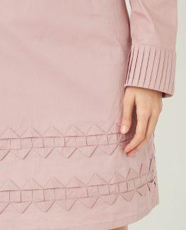 Vestido pliegues decorativos - Tutto Tempo