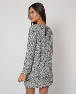 Vestido estampado geométrico - Tutto Tempo