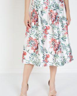 Falda estampada floral - Tutto Tempo