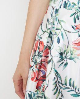 Falda estampada floral- Tutto Tempo