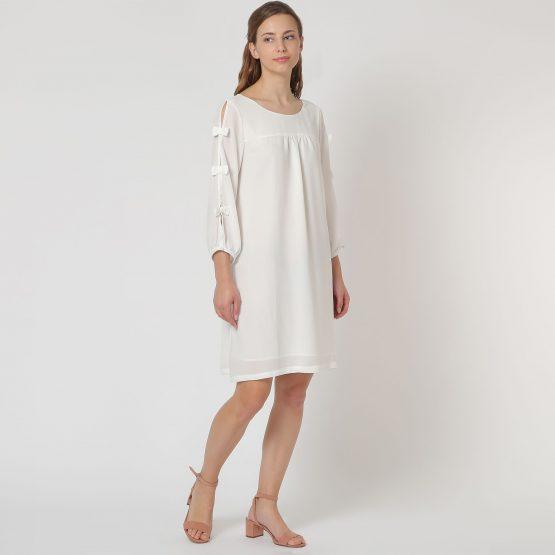 Vestido con lazos laterales - Tutto Tempo