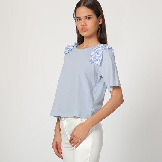 Camiseta con volante en los hombros - Tutto Tempo