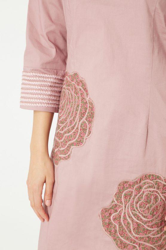Vestido cuello tunecino - Tutto Tempo