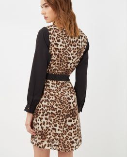 Vestido animal print - Tutto Tempo