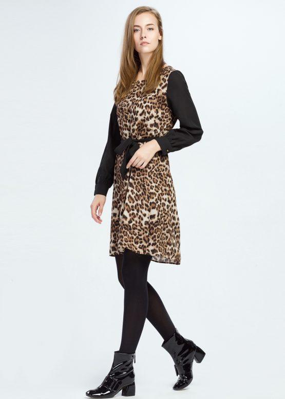 Vestido estampado leopardo - Tutto Tempo