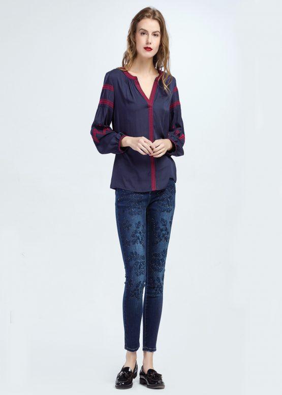 Jeans bordado - Tutto Tempo