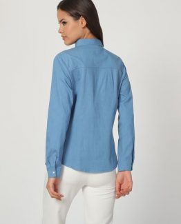 Camisa denim bordada - Tutto Tempo