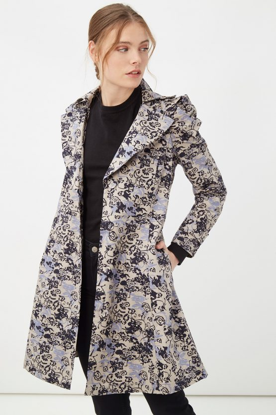 Trench estampado floral - Tutto Tempo