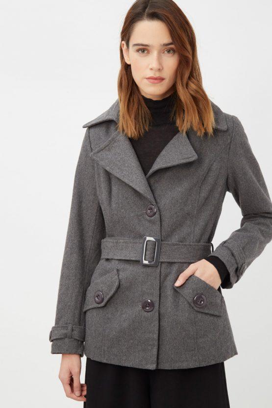 Abrigo lana con cinturón - Tutto Tempo