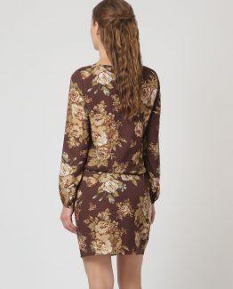 Vestido estampado de flores - Tutto Tempo