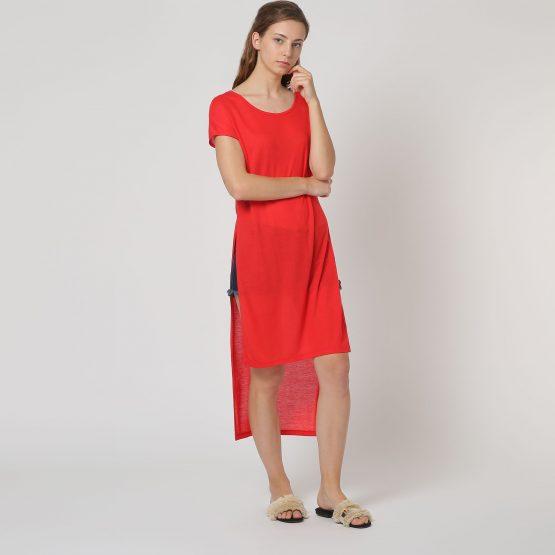 Vestido asimétrico manga corta - Tutto Tempo