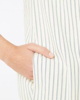 Vestido recto de rayas sin mangas - Tutto Tempo