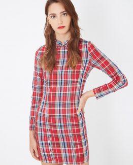 Vestido cuadros manga larga - Tutto Tempo