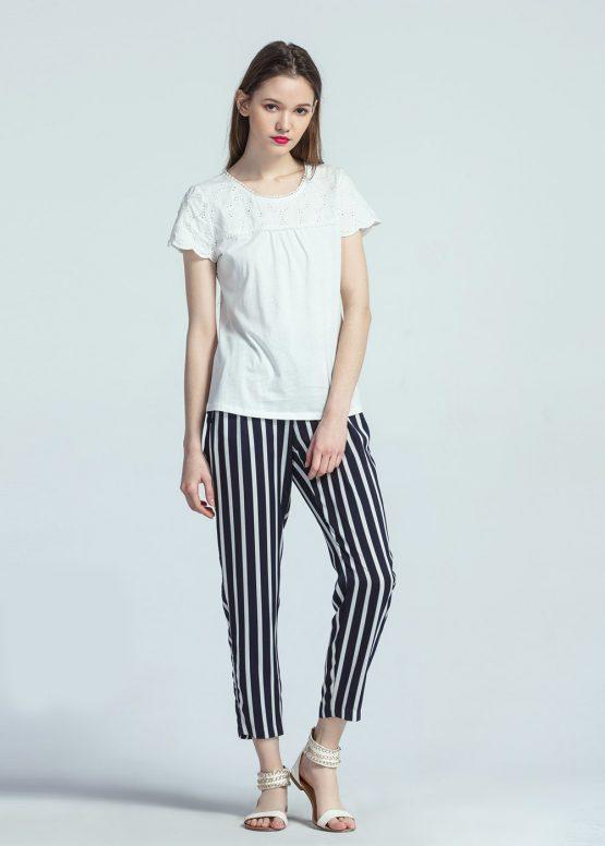 Camiseta manga corta detalles calados - Tutto Tempo