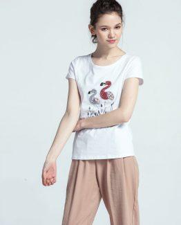 Camiseta flamencos con pedrería - Tutto Tempo