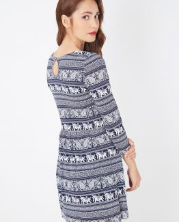 Vestido estampado elefantes - Tutto Tempo