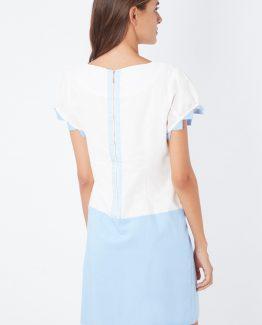 Vestido combinado manga corta - Tutto Tempo