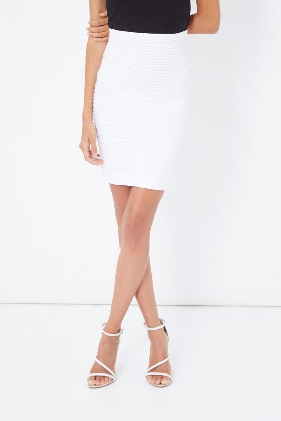 Falda recta plisada elástica - Tutto Tempo