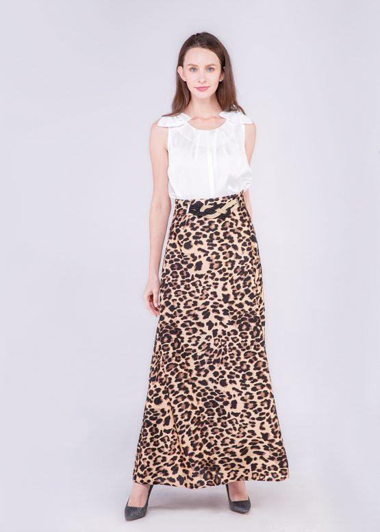 Falda larga estampado leopardo - Tutto Tempo