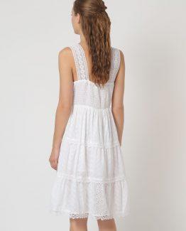Vestido algodón con motivos bordados - Tutto Tempo