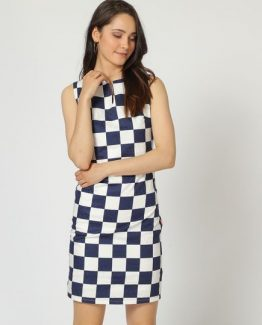vestido recto de cuadros - Tutto Tempo