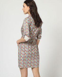 Vestido camisero pajaritas - TuttoTempo