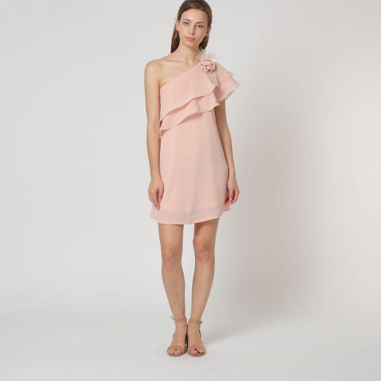 Vestido con escote asimétrico - Tutto Tempo
