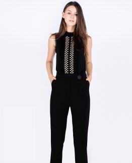 Pantalón recto con bolsillos laterales - Tutto Tempo