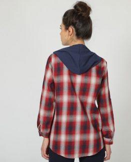 Camisa de cuadros con capucha - Tutto Tempo