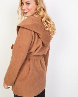 Abrigo con capucha y cinturón - Tutto Tempo