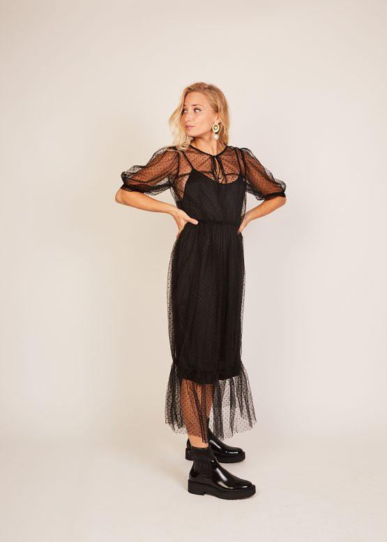 Vestido organza con lunares - Tutto Tempo