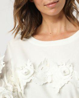 Jersey flores bordadas - Tutto Tempo